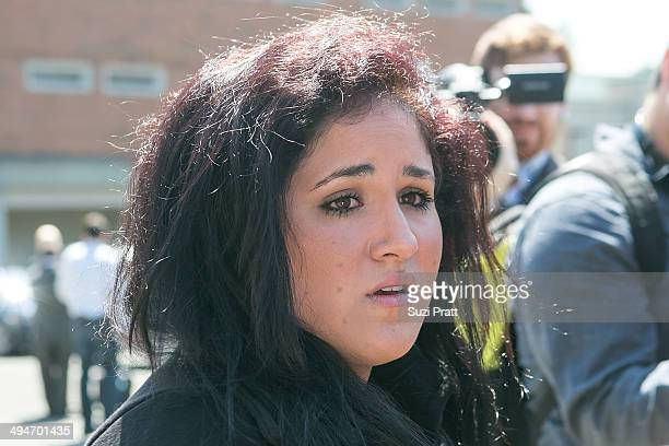 Liberty Jean Kasem daughter of Casey and Jean Kasem delivers a statement in front of the media following a court hearing at Kitsap County Courthouse...