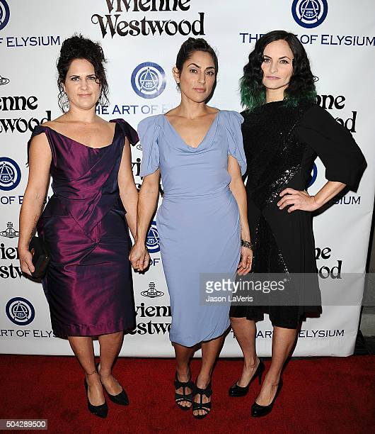 Liberty Phoenix Summer Phoenix and Rain Phoenix attend Art of Elysium's 9th annual Heaven Gala at 3LABS on January 9 2016 in Culver City California