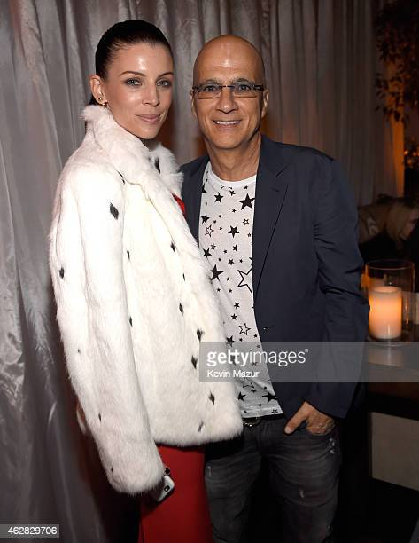 Liberty Ross and Jimmy Iovine attend event honoring Nile Rodgers for his Recording Academy producers award at Private Residence on February 5 2015 in...