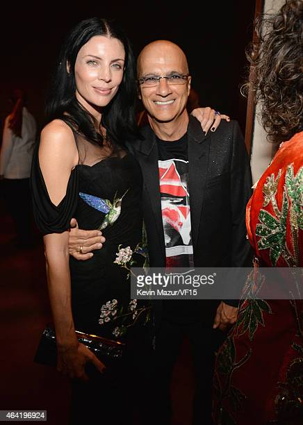 Liberty Ross and Jimmy Iovine attend the 2015 Vanity Fair Oscar Party hosted by Graydon Carter at the Wallis Annenberg Center for the Performing Arts...
