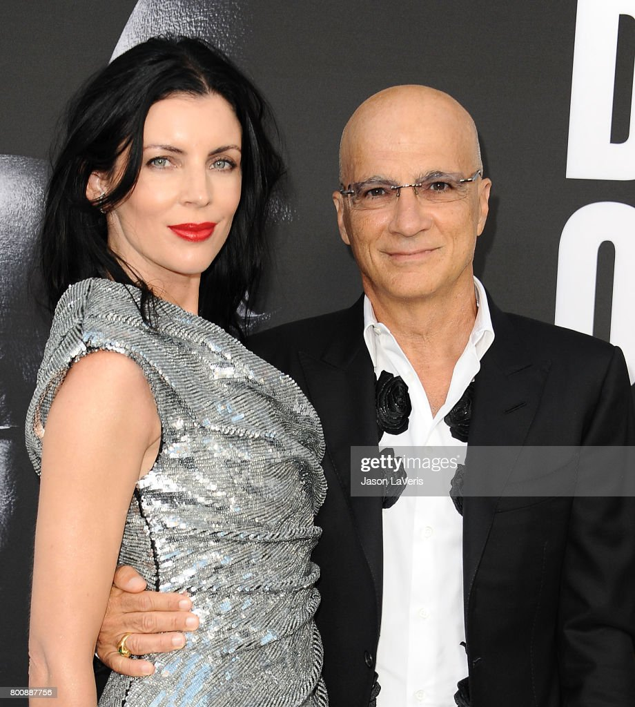 Liberty Ross and Jimmy Iovine attend the premiere of 'The Defiant Ones' at Paramount Theatre on June 22, 2017 in Hollywood, California.