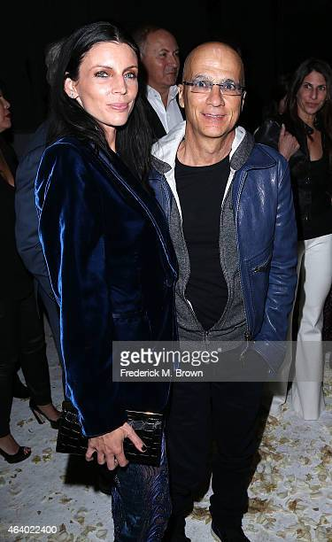 Liberty Ross and Jimmy Lovine attend the Tom Ford Autumn/Winter 2015 Womenswear Collection Presentation at Milk Studios on February 20 2015 in...