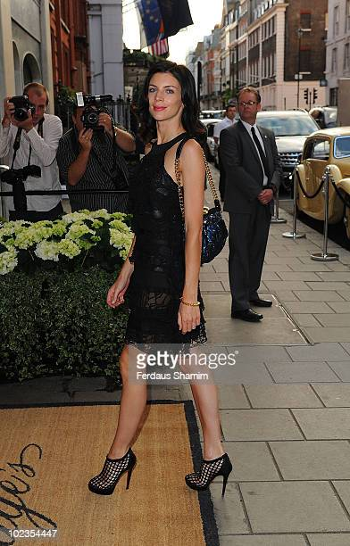 Liberty Ross attends the launch party for Diane von Furstenberg's new interior design project with Claridges at Claridges Hotel on June 23 2010 in...