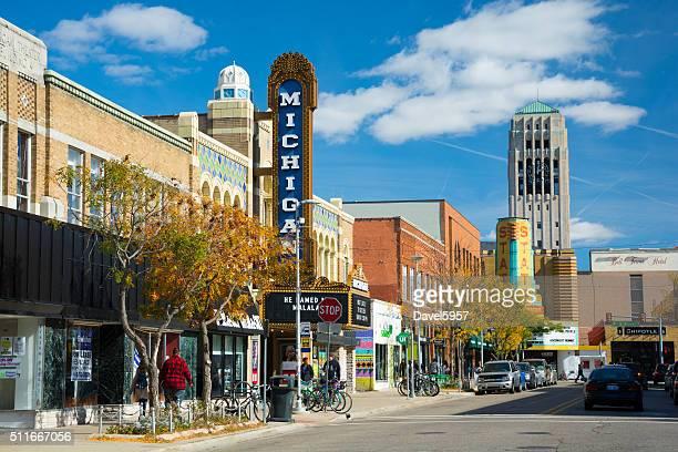 Liberty Straße Szene in Ann Arbor