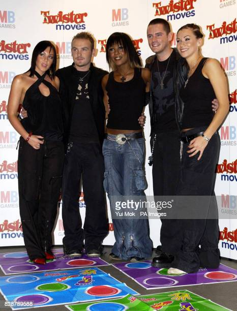Liberty X at the launch of the new game Twister Moves held at the Cc Club in central London MB's Twister Moves is a funky dance 'twist' to the family...