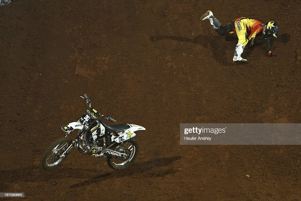 Libor Podmol during Final Moto X Step Up at the X Games on April 19, 2013 in Foz do Iguacu in National Park Iguacu.