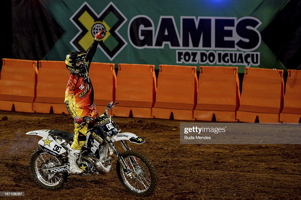 Libor Podmol in action during Moto X Step Up at the X Games on April 19, 2013 in Foz do Iguacu, Brazil.