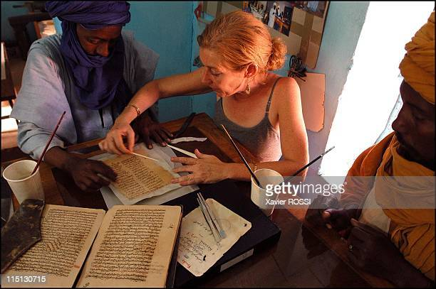 Libraries of the desert rediscovery and restoration of ancient Arab manuscripts in Bouj Beha Mali in April 2003 Timbuktoo At the Ahmed Baba Institute...