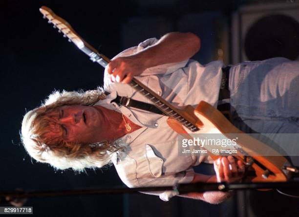Library file 2514734 dated 1991 Rick Parfitt guitarist with rock band Status Quo who was today recovering in intensive care after an emergency...