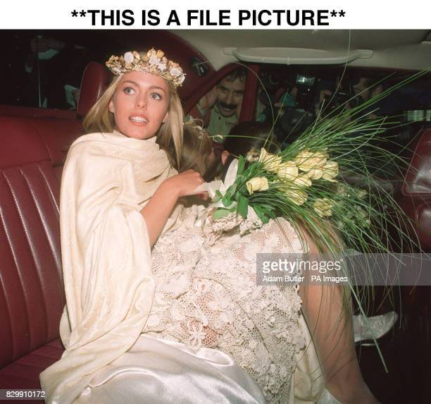 PICTURE** Library file 2516813 dated 3192 Patsy Kensit leaving Chelsea register office after her marriage to second husband rock singer Jim Kerr Miss...