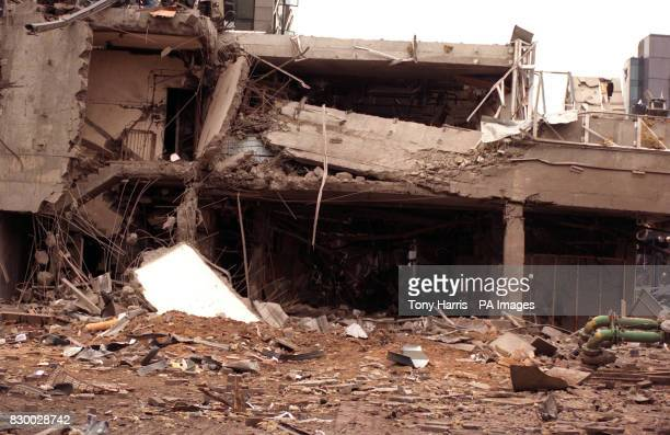 Library file dated 11/2/96 of a building near the South Quay Docklands Light Railway in London after a massive rushhour explosion which killed two...