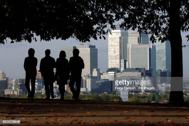 Library file dated Canary Wharf as seen from Greenwich