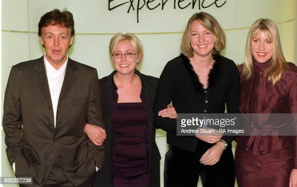 Library file dated 23/11/99 of former Beatle Sir Paul McCartney with former model Heather Mills her sister Fiona and her personal assistant Helen...