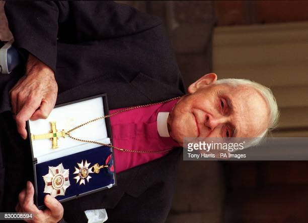 Library file dated 240398 of Archbishop Trevor Huddleston after he received his Knigthood in this year's New Year's Honours for his contribution to...