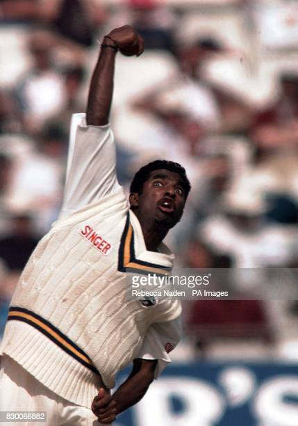 Library file dated 310898 Double winners Lancashire County Cricket Club today confirmed the signing of offspinner Muttiah Muralitharan as their...