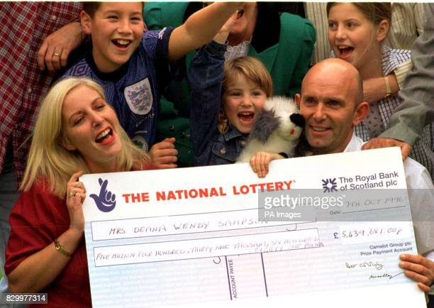 Library file dated 7/10/96 Mr Colin Sampson and his wife Deana with their Lottery cheque for 54 million Mr Sampson was given a conditional discharge...