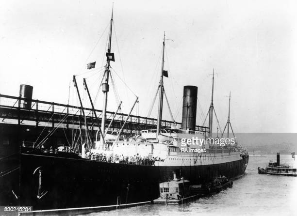 The 'Carpathia' lies at anchor after bringing in survivors from the Titanic disaster in April 1912 The wreck of the Carpathia famed for rescuing...