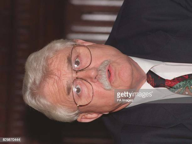 Library filer dated 16796 of Ulster Unionist Party spokesman Ken Maginnis who has been questioned by police over an alleged incident of assault in a...