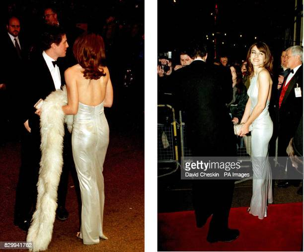 Library Filer dated 29/1/97 of Liz Hurley and Hugh Grant as they arrived for the premiere of 'Extreme Measures' in London Elizabeth Hurley has...