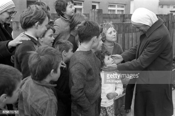 Library filer of Mother Teresa in Belfast Northern Ireland The 85yearold is suffering from fever and breathing with the help of a respirator a day...