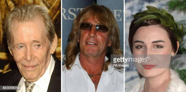 Library filers of Peter O'Toole Rick Parfitt and Erin O'Connor