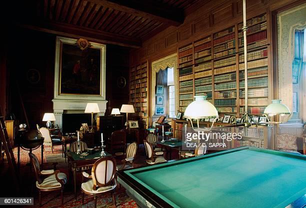 Library of the Chateau de Serrant SaintGeorgessurLoire Loire Valley France
