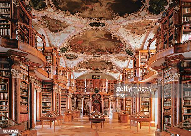 Library of the monastery St Gallen Switzerland 2000 hand writings 1635 incunable and almost 100000 books The library was built between 1758 and 1767...