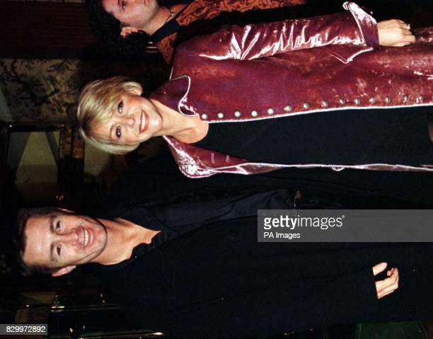 Footballer Lee Chapman with his wife actress Leslie Ash at the opening of the new musical 'Romance Romance' at the Marlborough Hotel Bloomsbury The...