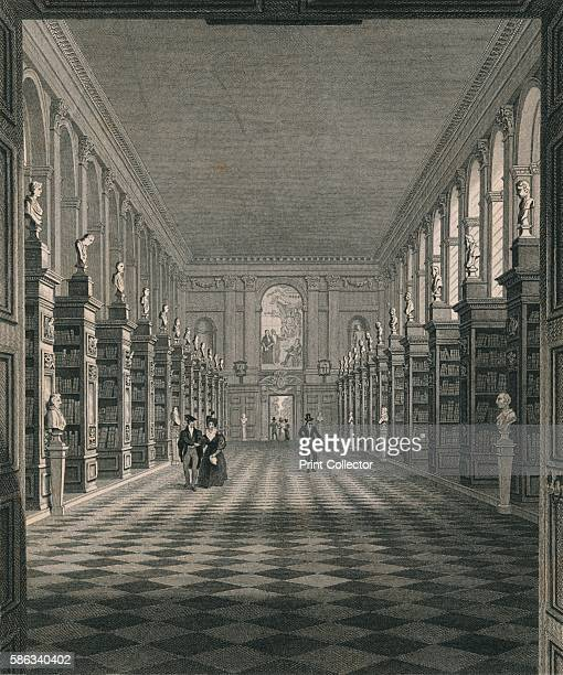 Library Trinity College' Cambridge circa 1820 Artists James Sargant Storer Henry Sargant Storer