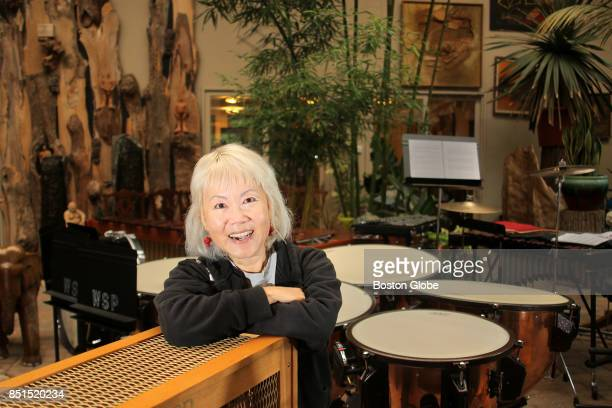 Librettist Cerise Lim Jacobs poses for a portrait before rehearsal of White Snake Project's 'Rev 23' in her Brookline MA home on Sep 19 2017 The...