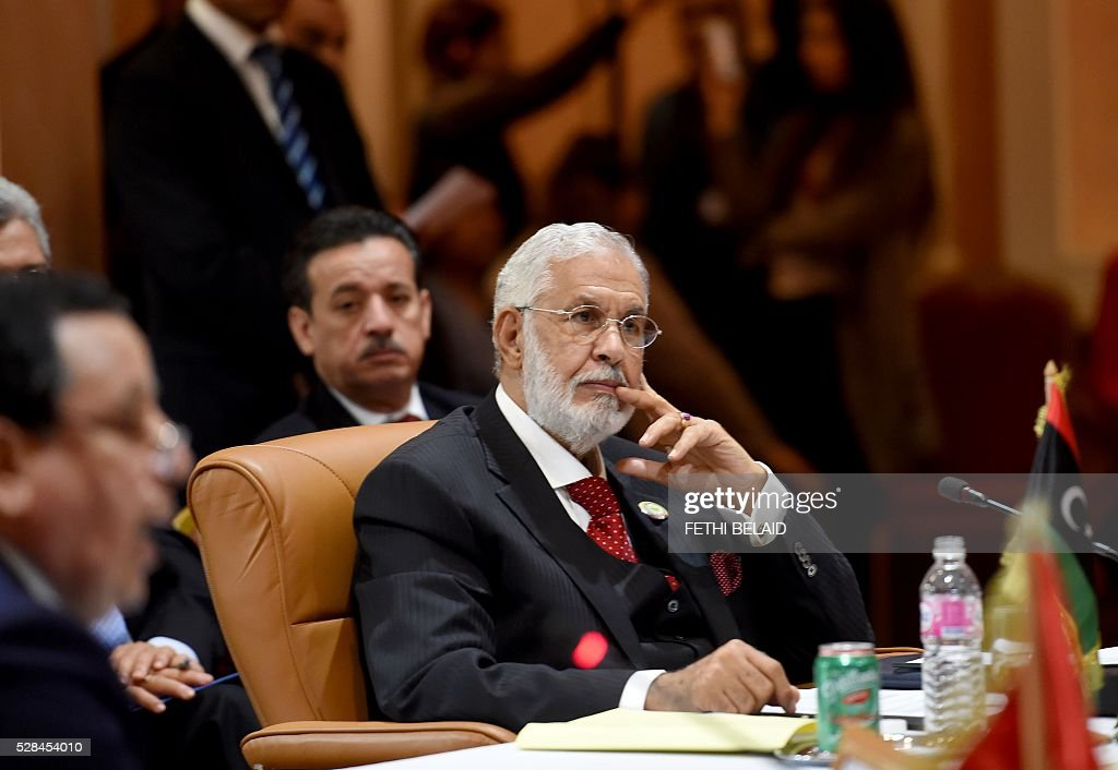 Libyan Foreign Affairs Minister, Mohamed Taher Siala attends the 34th Council of Foreign Ministers from the Arab Maghreb Union (UMA) on May 5, 2016 in Tunis. / AFP / FETHI