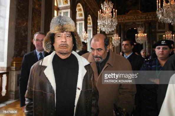 Libyan leader Moamer Kadhafi paid a visit 14 December 200 to the Versailles Castle dating from the 17th century made famous by the 'Sun King' Louis...