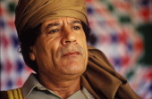 Libyan leader Muammar Gaddafi on March 18 1992 in Tripoli Libya
