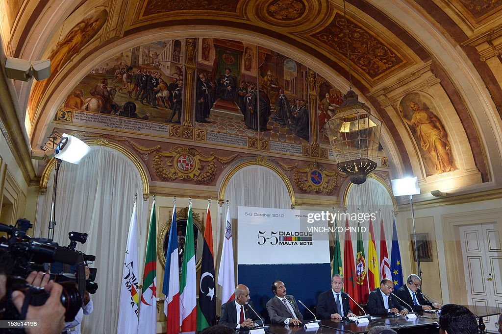 Libyan President Mohamed Magariafin Mauritanian President Mohamed Ould Abdel Aziz Maltese Prime Minister Lawrence Gonzi Tunisia's President Moncef...