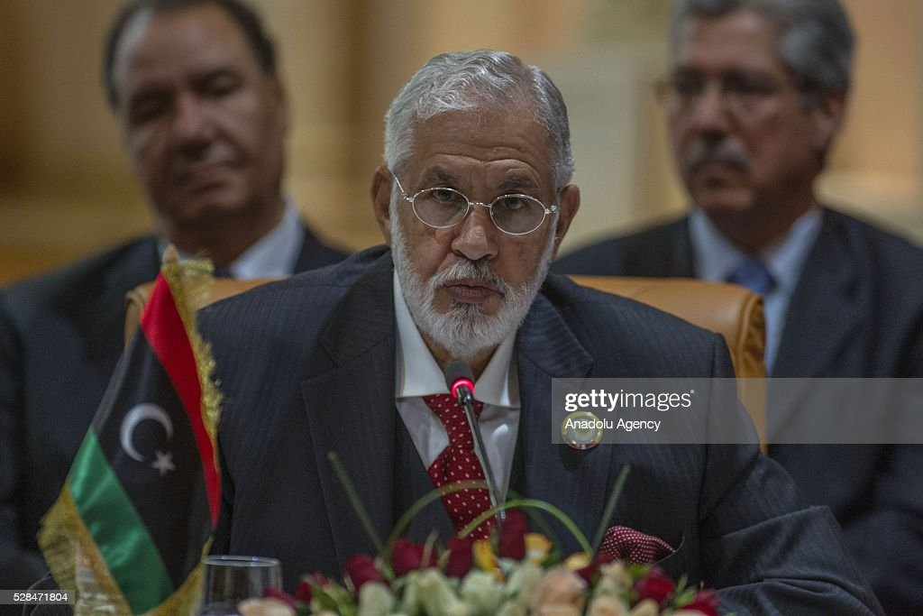 Libyan Presidential Council Negotiant Muhammad Tahir Seyyale participates in the 34th Arab Maghreb Union Foreign Ministers meeting at Golden Tulip in Tunis, Tunisia on May 5, 2016.