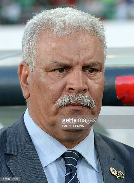 Libya's coach Javier Clemente Lazaro stands before the 2017 Africa Cup of Nations qualifying football match against Libya in Agadir on June 12 2015...
