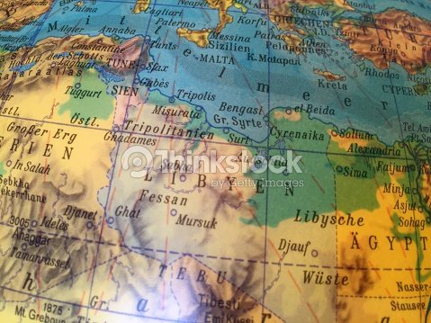 Globus Karte.Libyen Karte Alter Globus Weltkarte Stock Photo Thinkstock