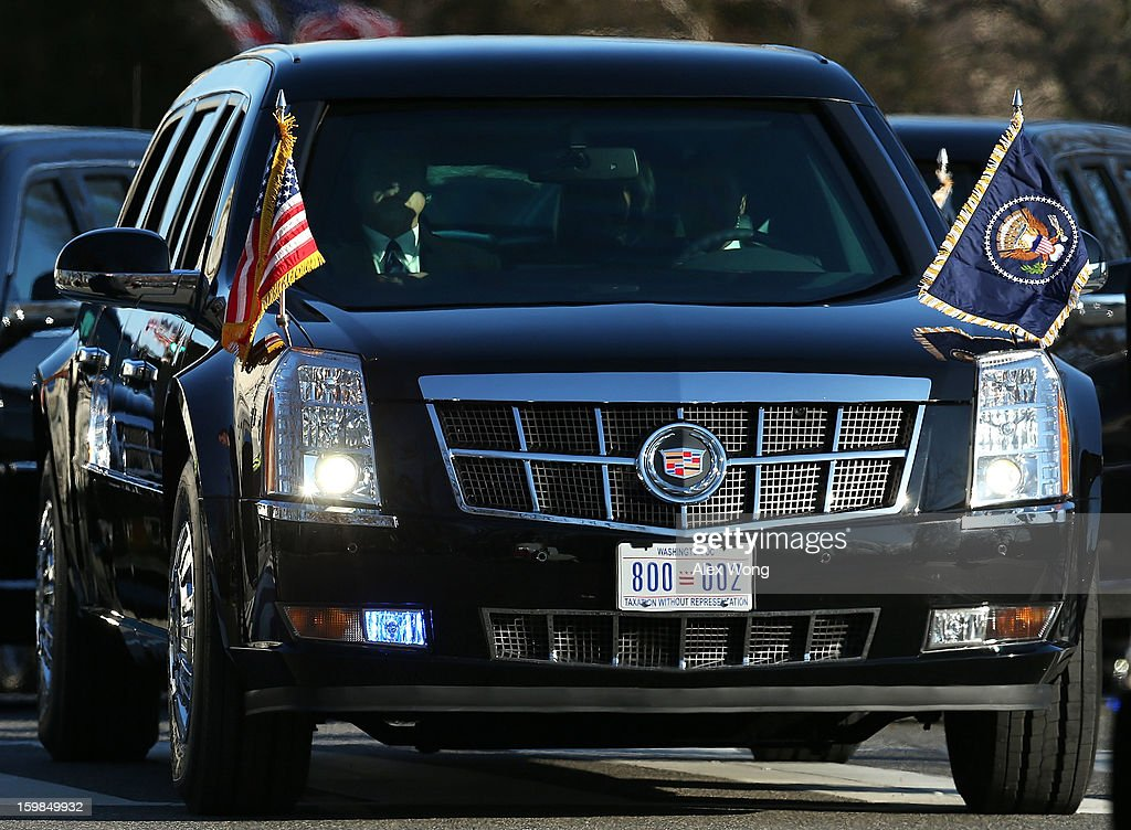 A 'TAXATION WITHOUT REPRESENTATION' license plate is seen on a presidential limousine during the Presidential Inaugural Parade January 21, 2013 in Washington, DC. Barack Obama was re-elected for a second term as President of the United States.