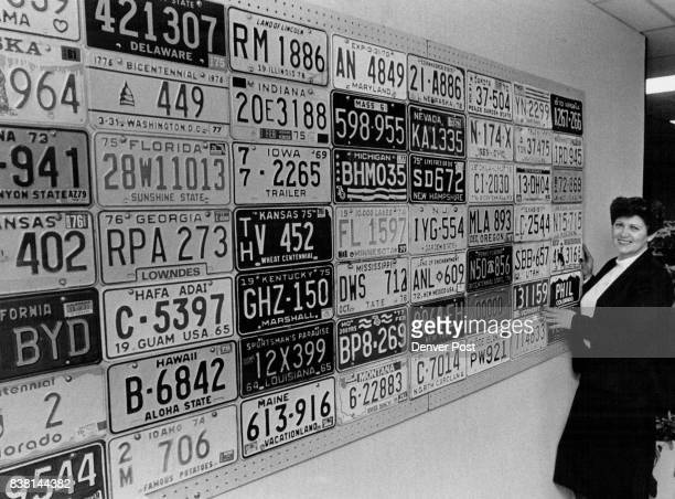 License Plates Gloria Bennett ***** Collection of Plates Credit The Denver Post