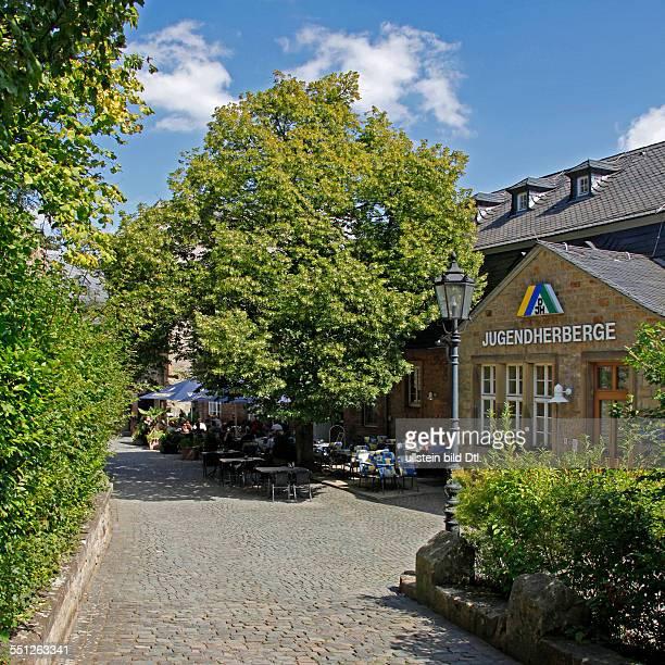 Lichtenberg castle built around 1200 youth hostel restaurant Thallichtenberg district of Kusel RhinelandPalatinate Germany