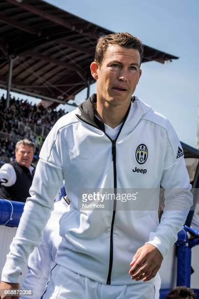 Lichtsteiner Stephan during the Italian Serie A football match Pescara vs Juventus on April 15 in Pescara Italy