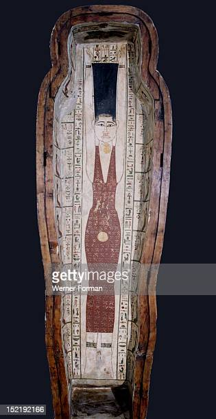 Lid of the coffin of Khenstefnakht with depiction of the goddess Nut whose body symbolized the vault of the sky offering protection to the deceased...