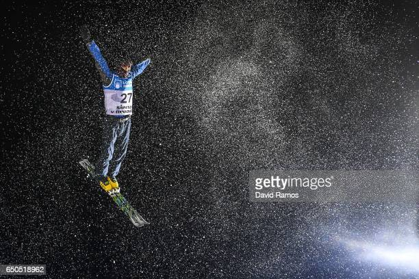 Lidar Badrutdinov of Kazakhstan in action during Men's Aerials Training on day two of the FIS Freestyle Ski and Snowboard World Championships 2017 on...