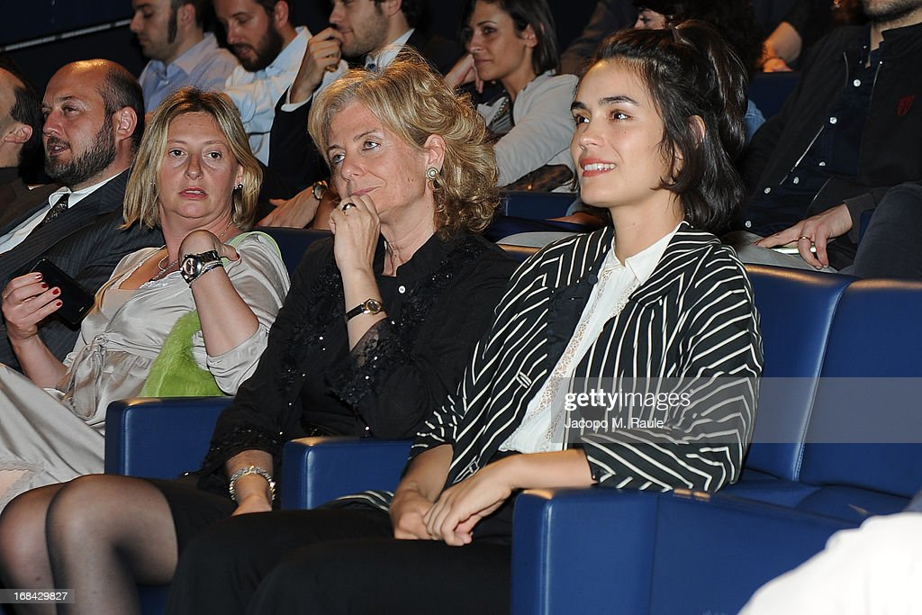 Lidia Dainelli and <a gi-track='captionPersonalityLinkClicked' href=/galleries/search?phrase=Shannyn+Sossamon&family=editorial&specificpeople=2078179 ng-click='$event.stopPropagation()'>Shannyn Sossamon</a> attend the Italian premiere of the short film 'Desire' at ex Manifatture Tabacchi on May 9, 2013 in Milan, Italy.