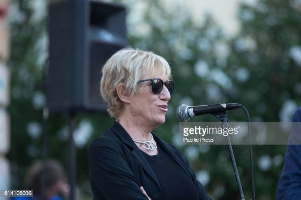 Lidia Ravera Councilor for Culture and Youth Policy of the Lazio Region during 80th anniversary celebration of the gas plant in Rome in the presence...