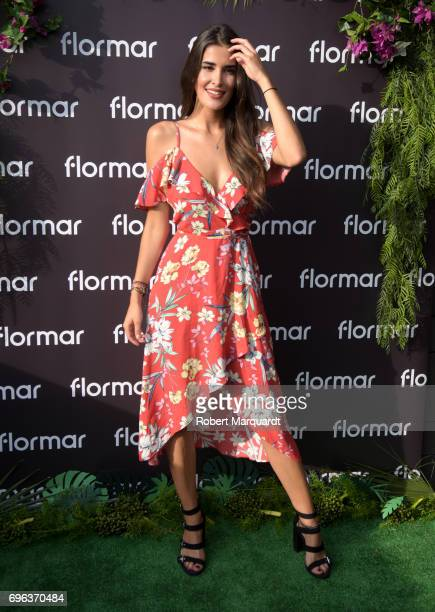 Lidia Torrent poses during a presentation at the 'Tropical Splash Party' at the Hotel Gallery Terraza on June 15 2017 in Barcelona Spain