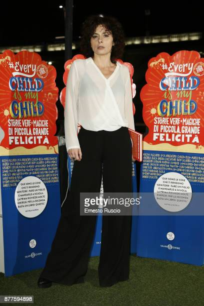 Lidia Vitale attends #EVERYCHILDISMYCHILD book presentation on November 22 2017 in Rome Italy