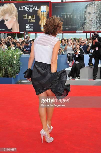 Lidia Vitale attends the 'E Stato Il Figlio' Premiere during The 69th Venice Film Festival at the Palazzo del Cinema on September 1 2012 in Venice...