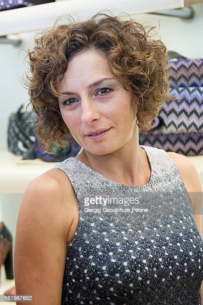 Lidia Vitale poses during Rome Vogue Fashion's Night Out at Missoni shop on September 13 2012 in Rome Italy