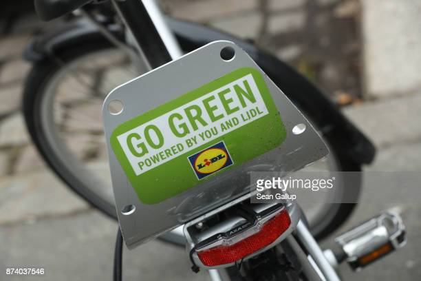 Lidl sharing bicycle stands parked in the city in the city center on November 14 2017 in Berlin Germany A number of companies have plunged into the...